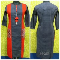 Straight Cotton Long Kurti