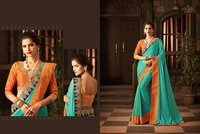 Designer Cut Embroidery Work Sarees Online
