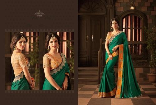 Designer Heavy Work Blouse Silk Saree Online