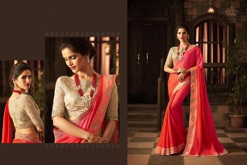 Party Wear Golden Feel Silk Sarees