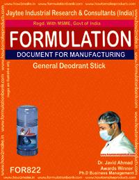 General Deodorant Stick Formulation