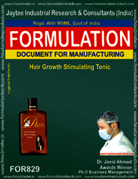 Hair Stimulating tonic Formulation