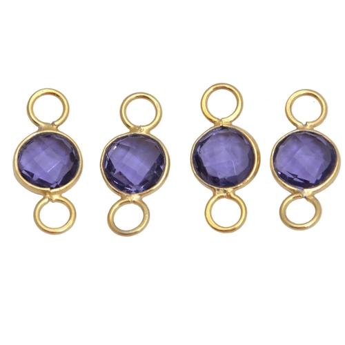 Gemstones Bezel Connectors