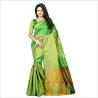Ladies Green Color Designer Sarees