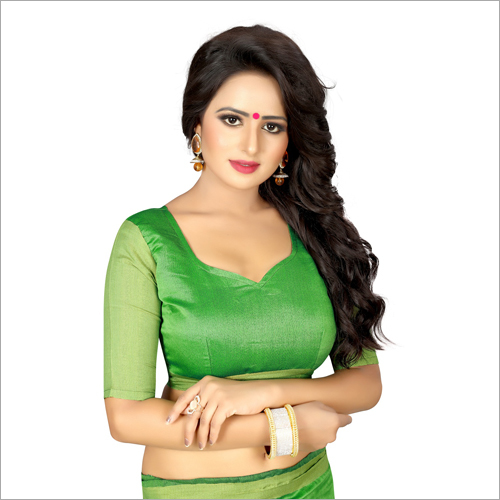 Ladies Green Color Designer Sarees