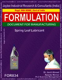 Formulation of Spring Leaf Lubricant