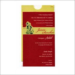 Thread Ceremony Invitation Card