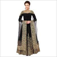 Ladies Black Color Anarkali Salwar Suit-Gown