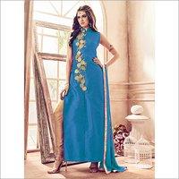 Ladies Sky Blue Color Salwar Suit