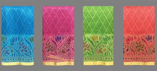 Cotton Supernet Saree