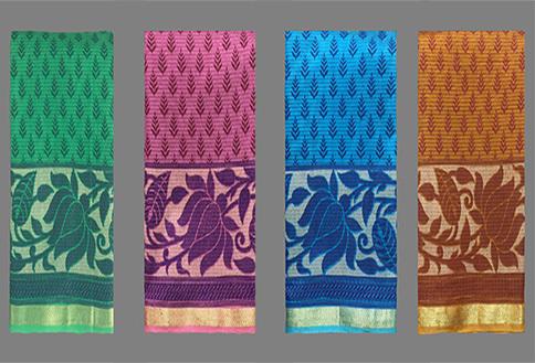 Self Design Cotton Saree