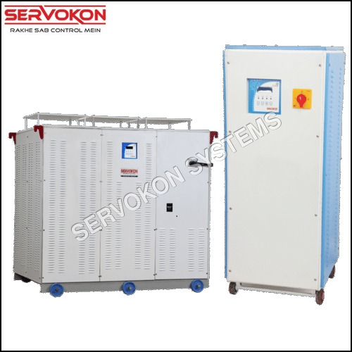 3 Phase Variac Type Servo Stabilizer - Air Cooled