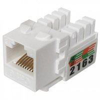 Cat6 UTP 90Degree 110 Punch Down Keystone Jack