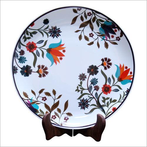 Floral Print Ceramic Plate