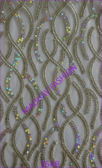 Four Color Sequin Embroidery work