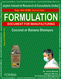 Coconut or Banana Shampoo Formulation