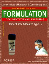Paper Latex Adhesive type 2 Formulation