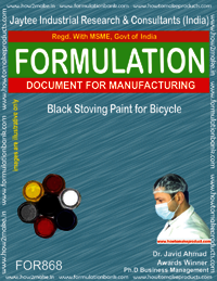 Black Stoving Paint for Bicycle 2 Formulation