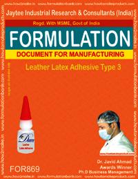 Leather Latex Adhesive Type 3 Formulation