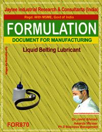 Liquid Belting Lubricant Formulation