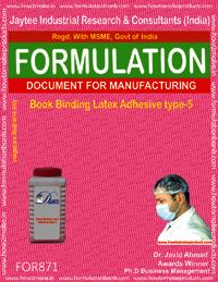Book Binding Latex Adhesive Type 5 Formulation