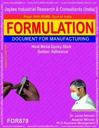 Heat Metal Epoxy Stick Solder Adhesive Formulation
