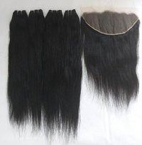 Remy Virgin straight human hair with forntal
