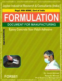 Epoxy Concrete Floor Patch Adhesive Formulation