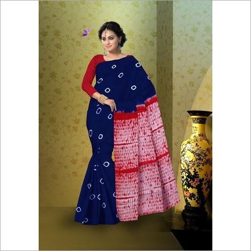 Shibori Print Cotton Saree