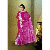 Shibori Print Cotton Mulmul Saree