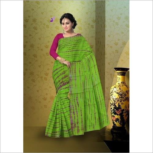 Shibori Print Ladies Cotton Saree