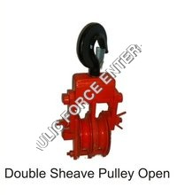 Double Sheave Pulley Open