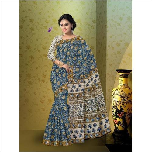 Kalamkari Print Cotton Saree