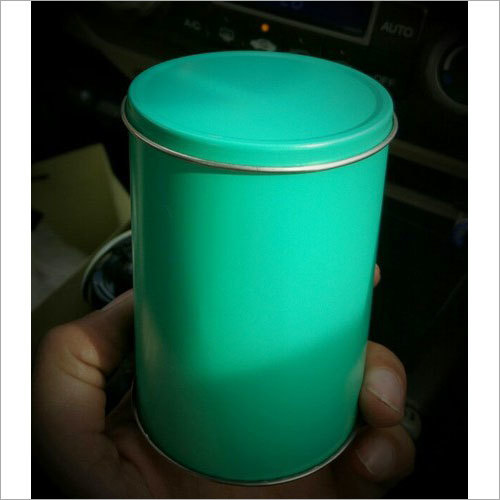 Cylindrical Metal Tin Can