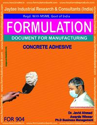 Concrete Adhesive Formulation