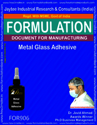 Metal Glass Adhesive Formulation