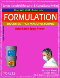 Water Based Epoxy Primer Formulation