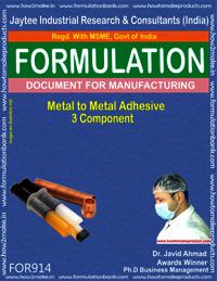 Metal to Metal Adhesive 3 component Formulation