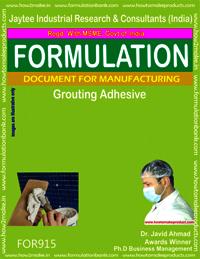 Grouting Adhesive Formulation