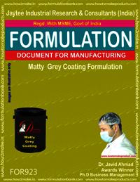 Matty Grey Coating Formulation