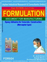 Epoxy Adhesive for Concrete Construction (mercaptane)