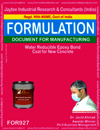 Water Reducible Epoxy Bond Coat for New Concrete