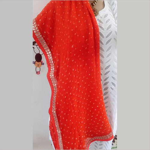 Bandhej Dupatta With Border