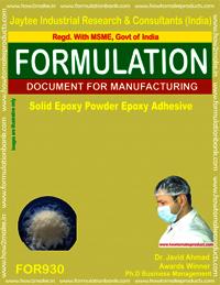 Solid Epoxy Powder Adhesive Formulation