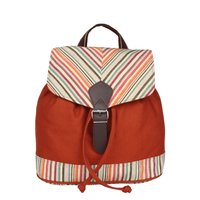 Anekaant Streak Orange Canvas Backpack