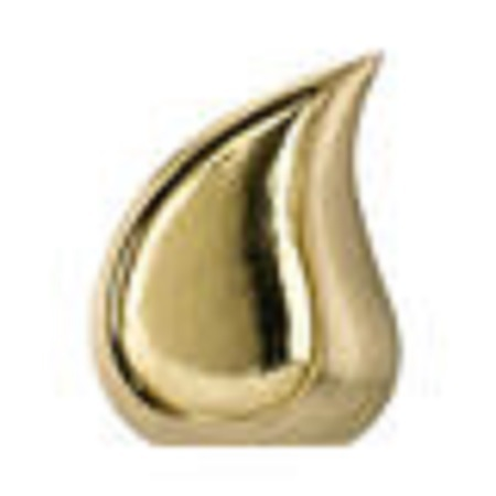 Gold Finish Teardrop