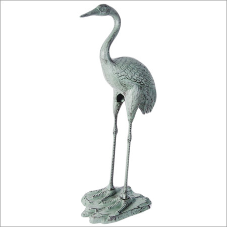 Aluminium Silver Decorative Heron