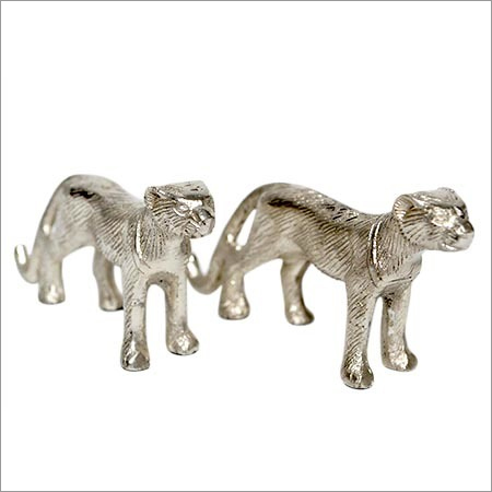 Aluminium Silver Decorative Jaguar