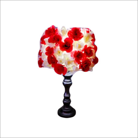 Red White Flower Lampshade