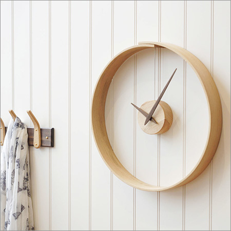 Steam Bent Wooden Wall Clock